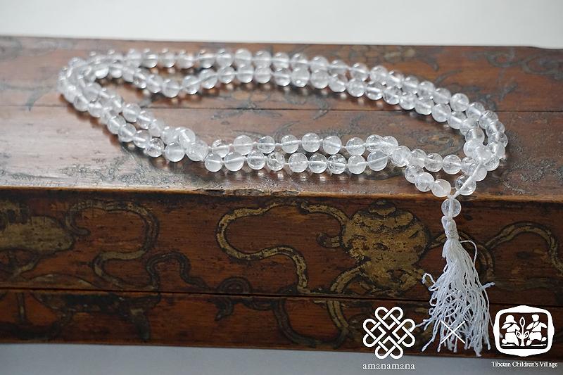 愛と慈悲のクリスタル数珠セット