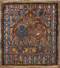 西チベットマンダラ 仏陀とヴァジュラハラ・バジュラダルマ
