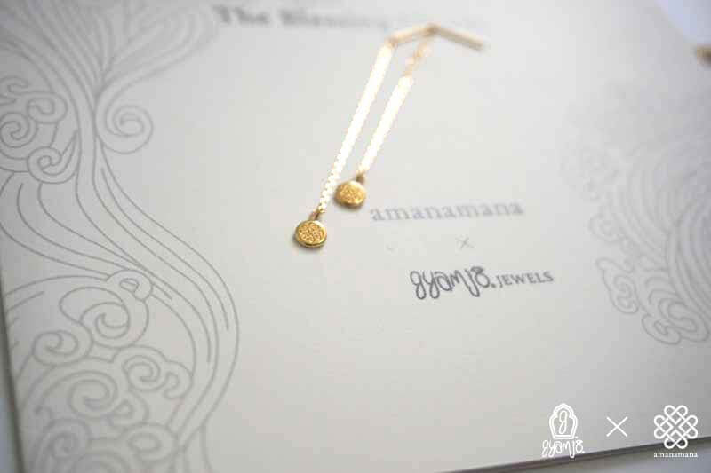 The Blessing Charm �U  Vajura Gold 光 ピアス
