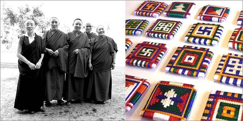 亡命チベット人によるお守り