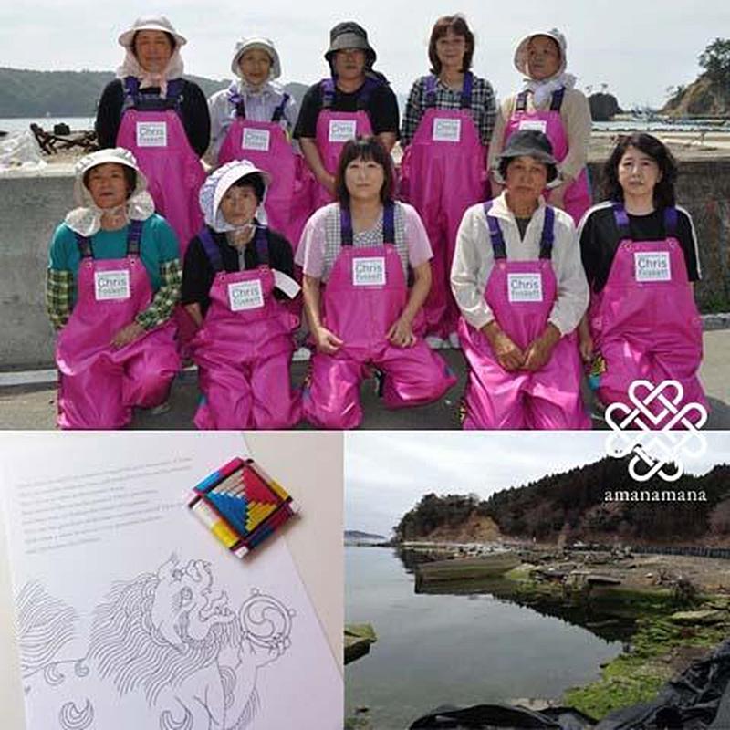 漁業用防水ピンクスーツ
