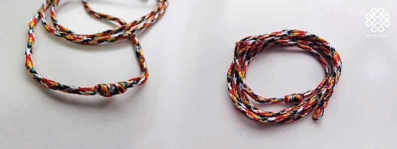 チベットの色組紐(祈祷済み)
